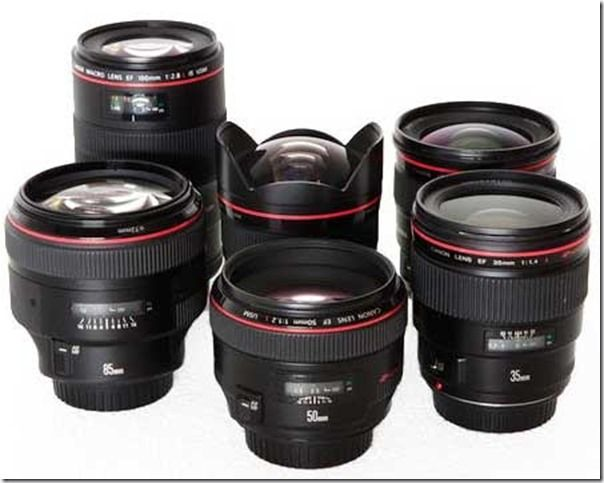 Canon Prime Lenses Set  B