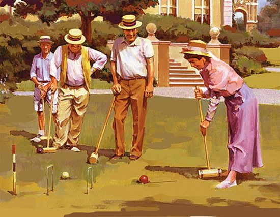 Croquet, Garden, Games, paille-maille, gardens croquet, Nine wicket croquet, Gate Ball, balls, hoops, Golf Croquet, Lawn, The Croquet Association,
