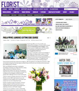 Florist Magazine Paula Pryke