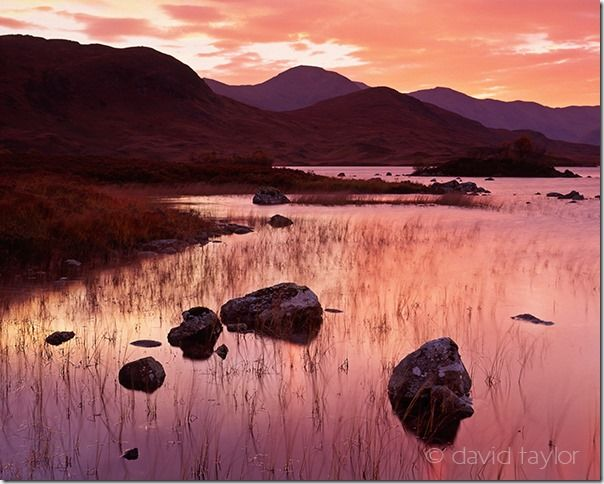 Sunset over Lochan na h-Achlaise near Rannoch Moor in the Scottish Highlands, Argylle and Bute, Scotland, What is the difference between PPI and DPI, fine art color prints, How to Preparing Your images for Printing, PPi, DPI, Digital colour printing, online photography course, dithering, resolution, pixels,