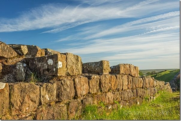 The ruins of Hadrian's Wall at Walltown in the Northumberland National Park, England
