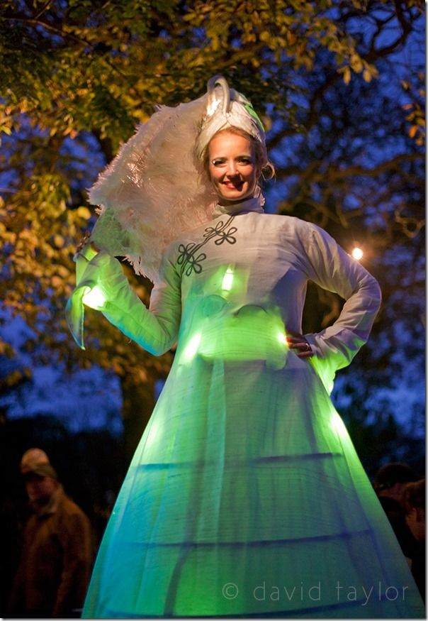 Street performer dressed as a spirit of the park in Ridley Park as part of the celebrations of the 'Blyth in New Light' event held as part of the 2008 'Northumberland Lights' festival in November 2008, Planning a photography shoot, Forward planning, Packing