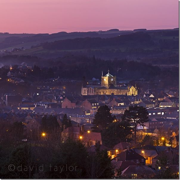 Hexham Abbey from Fellside, winter at dusk, Northumberland, England, Which tripod should I buy?, Choosing a tripod, tripods, triopod, online photography course, Buying a tripod,<br />