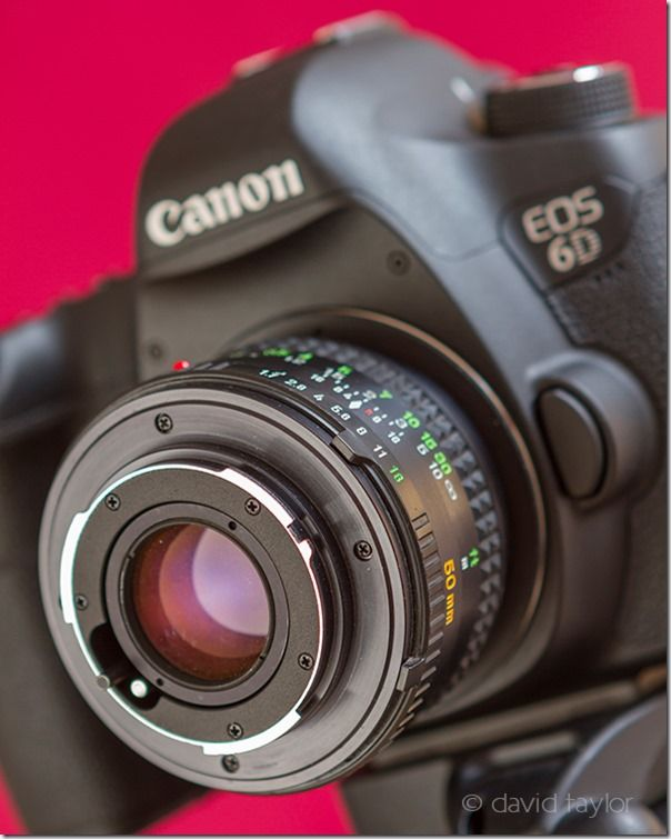 Canon EOS 6D with fitted macro lens
