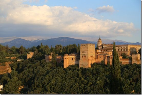 1 The Alhambra at sundown