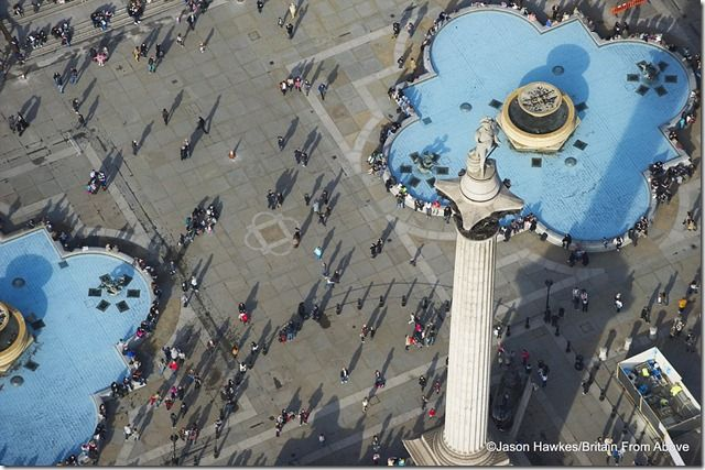 Hanging out with Nelson A view looking down on Nelson's Column in London's Trafalgar Square