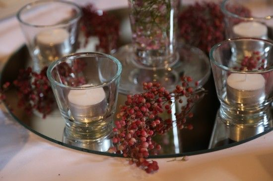 Wedding flowers:  Pink peppercorns
