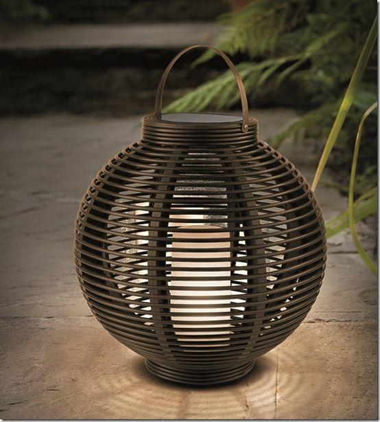 18279 Solar round lantern