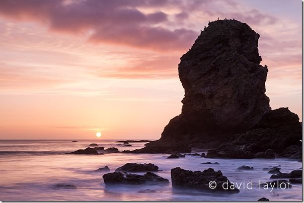 Periclase and Magnesian Limestone sea stack in Marsden Bay near South Shields and Whitburn, South Tyneside, England, Solstice, Equinox, sun rise, sun set, dawn, dusk, landscape, photography, online photography courses, David Taylor, summer, winter,