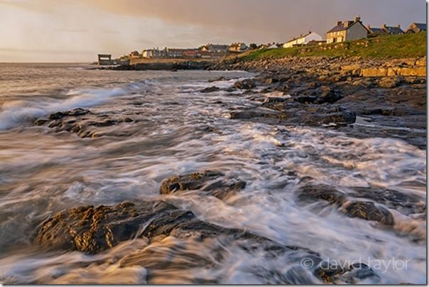 Dawn at the village of Craster on the Norhumbrian Coast, Northumberland, England