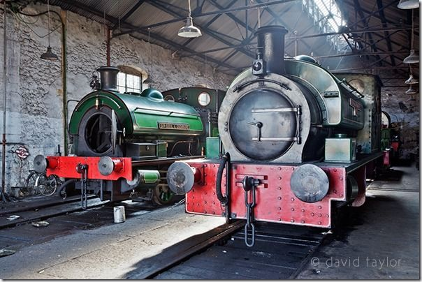 The 'Renishaw Ironworks No.6' and 'Sir Cecil A Cochrane' locomotive on display at the Tyneside Locomotive Museum near the village of Tanfield in County Durham, Documentary Photography, Street Photography, Photography classes, photography courses, Themes, Story telling images, Establishing Shot,