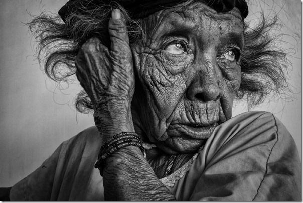 B&W shot of old lady - Johnny Haglund