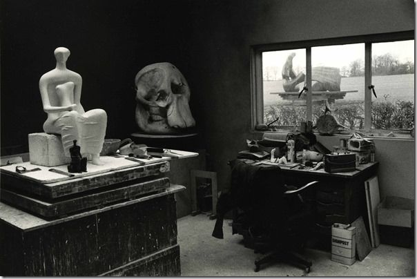 Kertesz, Henry Moore Studio with Elephant Skull, 1980. The Estate of Andre Kertesz 2015, Courtesy James Hyman Gallery, London