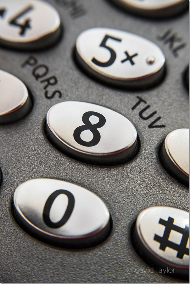 Numbers on a telephone keypad