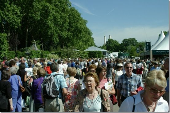 The crowds at RHS Chelsea