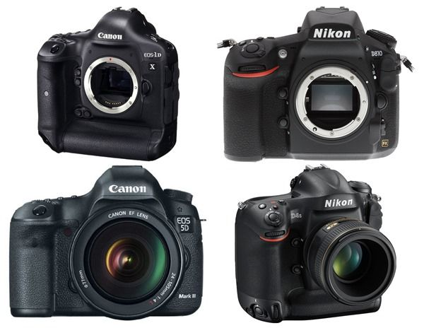 Top of the range DSLR Cameras, Best, High End, Camera, DSLR, Canon 5D Mark III, Nikon D810, Canon EOS 1DX, NIkon D4S, Top of the range,