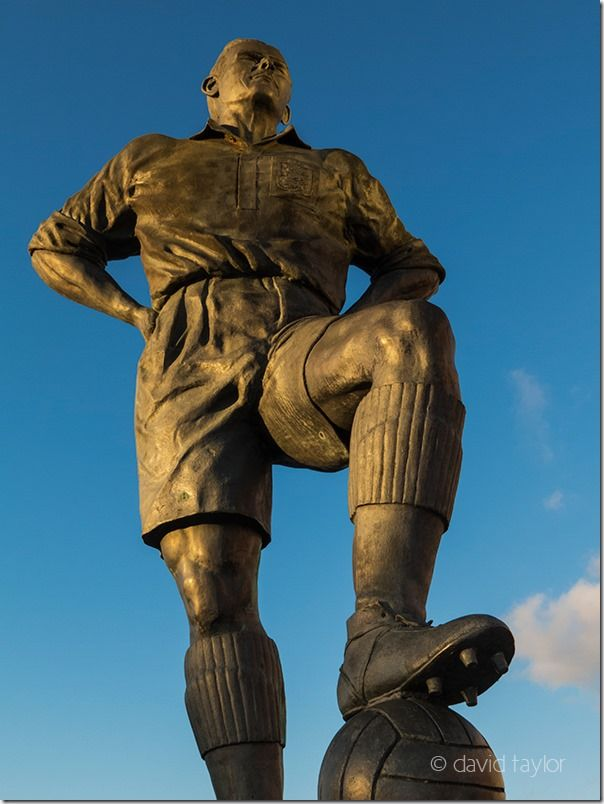 Statue of George Hardwick outside Middlesbrough Football Club's Riverside Stadium, Teesside