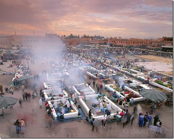 Food stalls in the Djemaa el Fna market place in Marrakech, Morocco, Travel Photography Tips, Travel Photography, Holiday photography, online photography courses,