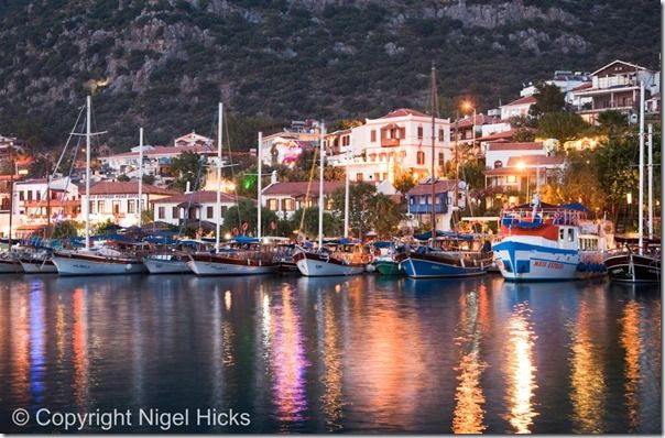 Kas harbour at dusk, Kas, Turkey, Travel Photography, Holiday, photography, ideas, tips, vacation, course,  class, city break, street photography, people, story, documentry,