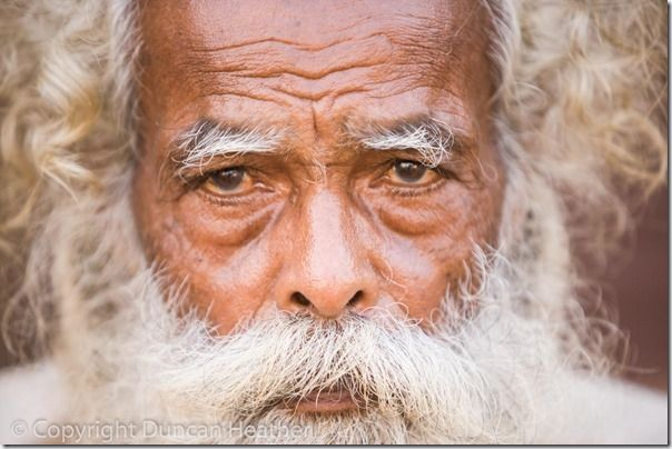 Elderly person from Indian Fishing Village. Covalam Tamil Nadu