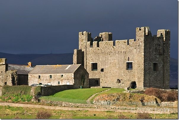 Greencastle on the County Down coast near Carlingford Lough, Northern Ireland. It was built by Hugh de Lacy in the 1230s, Lighting, Front light, back light, side light, side lighting, front lighting, back lighting, light, quality,