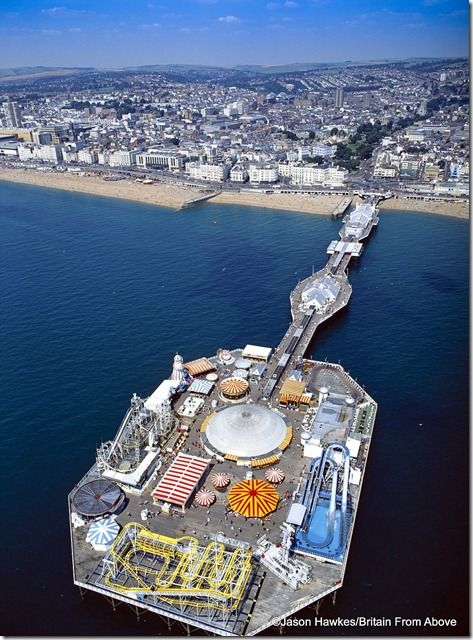 Brighton Pier Jason has specialised in aerial photography since 1991 and has produced more than 40 aerial photographic books for publishers