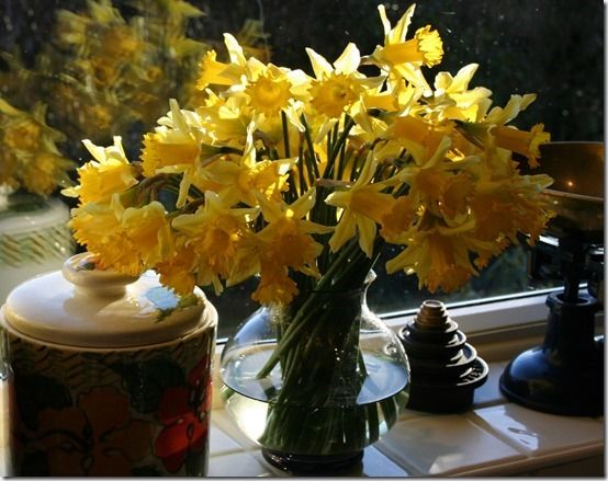 3 Vase of daffodils