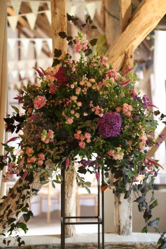 floral pedestal