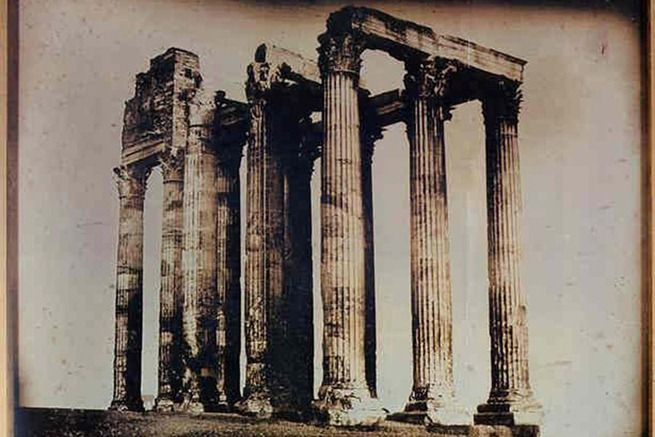 113, Athènes, Temple de Jupiter olympien pris de l'est (1842), Joseph-Philibert Girault de Prangey