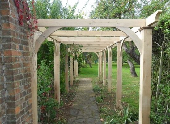 8 Pergola agaist a wall