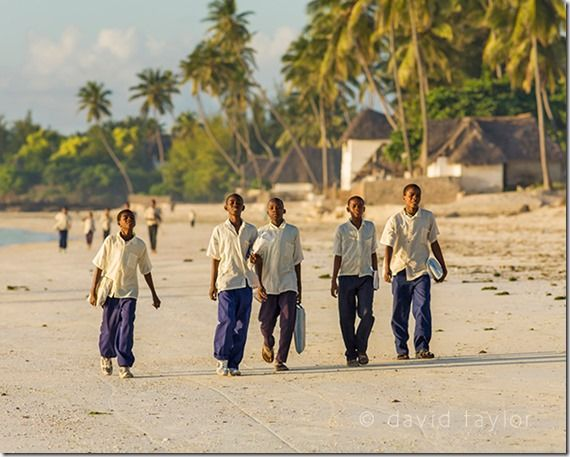 Children walking to school along the beach, Jambiani, Zanzibar,  The Golden Hour, landscape photographer, landscape photography, Light, sunrise, sunset, visible light, online photography course
