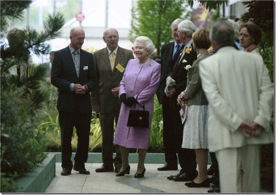 With Her Majecty the Queen at RHS Chelsea