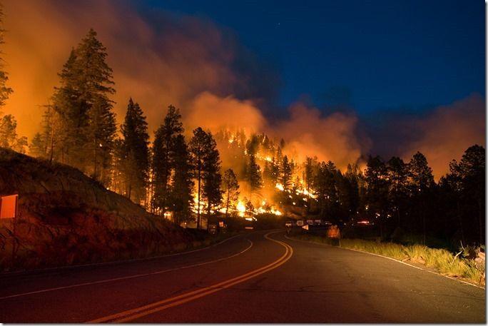 Wildfires Spread in New Mexico and Colorado