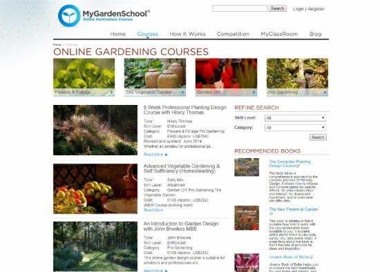 3 My Garden School courses