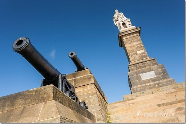 Monument to Admiral Lord Collingwood who served in the Royal Navy with Nelson and saw action on the 'Royal Sovereign' during the Battle of Trafalgar. Lord Collingwood was born in Newcastle, died in action in 1810 and is now buried in St Paul's Cathedral. The monument is situated near Tynemouth overlooking the River Tyne