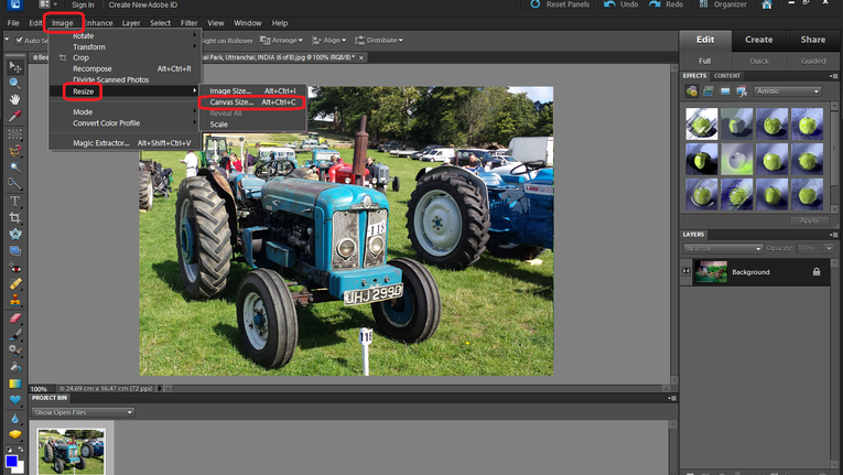 How to change a background in photoshop elements 14