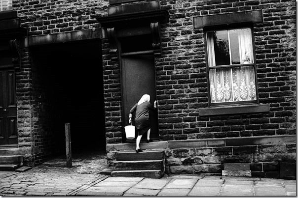 A back street in the town of Batley, Yorkshire, 1974