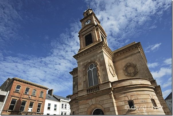 Coleraine town hall, built in 1743, demolished and then rebuilt in 1859, standing in the 'Diamond' public square, County Londonderry, Northern Ireland, Tilt and Shift Lenses, Tilt and Shift Lens, Canon Tilt and Shift Lens, Nikon Tilt and Shift Lens, Samyang/Rokinon tilt and shift lens, 24mm, 45mm, 85mm, 90mm
