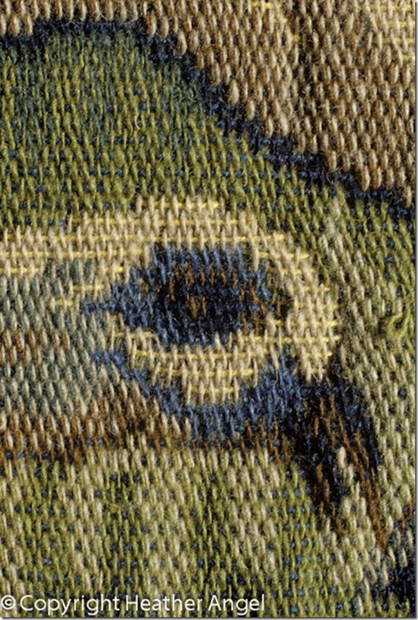 Detail of replica of C18 French tapestry by d' Aubusson