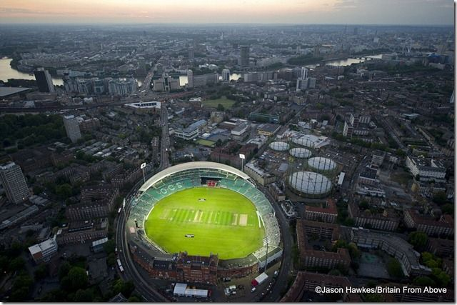 Field of dreams The Oval cricket pitch in South London at night