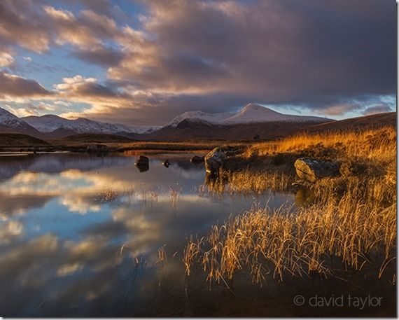 Sunset over Lochan Na Stainge with the Black Mount behind on Rannoch Moor in the Scottish Highland, Argyll & Bute, Scotland, Buying a new camera, questions to to ask, what size sensor
