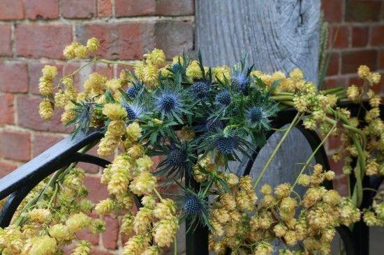 Wedding flowersThe handrail