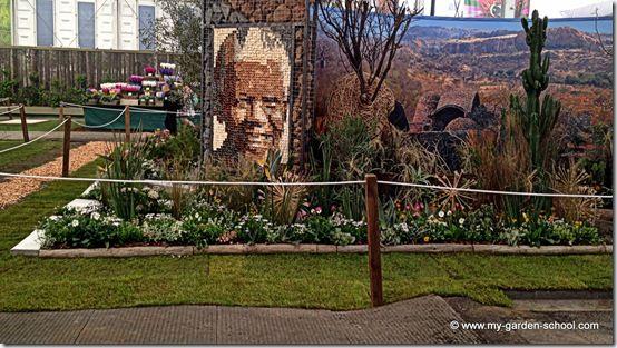 Nelson Mandela Chelsea Flower Show 2014
