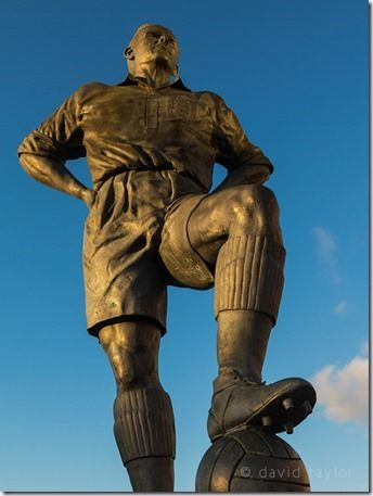 Statue of George Hardwick outside Middlesbrough Football Club's Riverside Stadium, Teesside, Cropping, images, crop, full frame, crop factor, APS-C, Canon, Nikon, sensors, camera sensor, lens, full-frame,