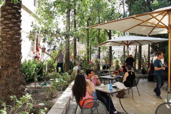 Austrian mission rooftop cafe, Jerusalem