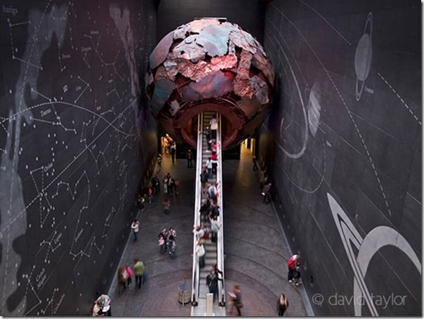 The newly developed entrance to the Geological exhibition in the Natural History Museum, London