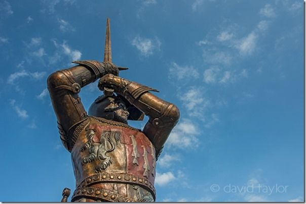 Statue of Sir Henry Percy or Harry Hotspur in Alnwick, unveiled by His Grace, the Duke of Northumberland on 20 August 2010