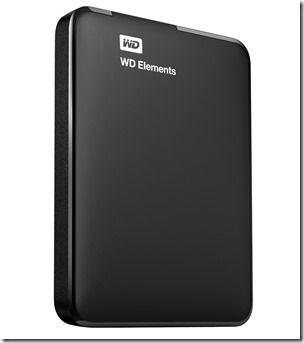 Western Digital 1TB WD Elements Portable USB 3.0 Hard Drive Storage