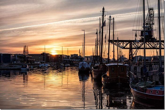Stadhafen in Rostock