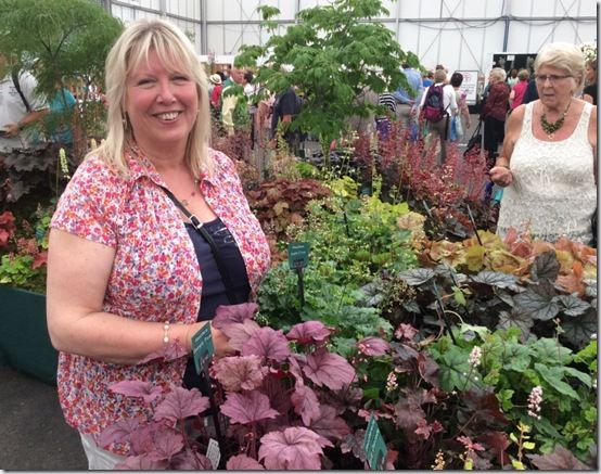 8 Vick Fox with her heucheras